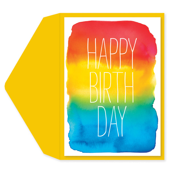 Watercolor Birthday Birthday Card