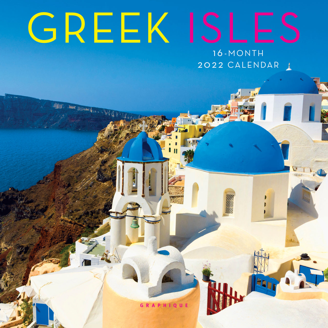 Greek Isles 7x7 Mini Calendar