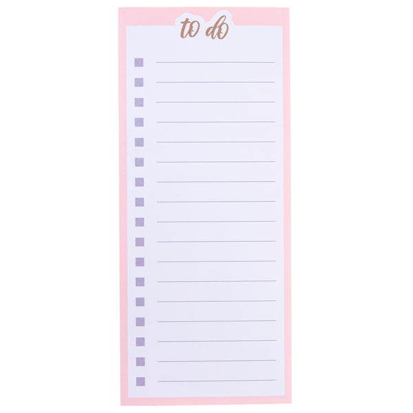 Pink To Do Magnetic Notepad