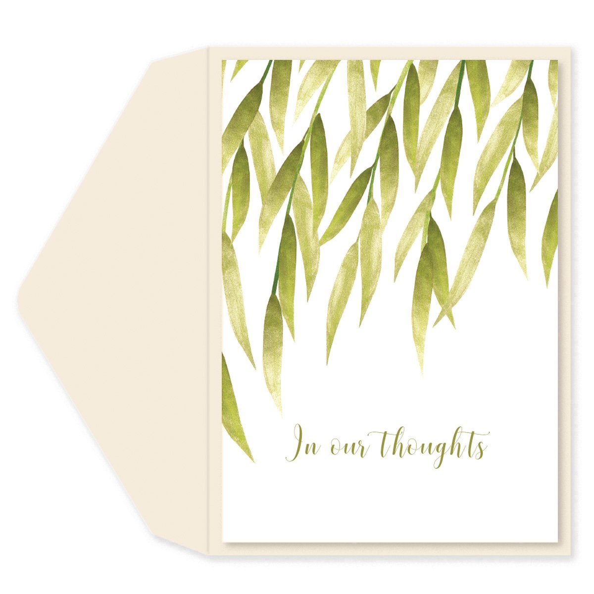 Willow leaves Sympathy Card
