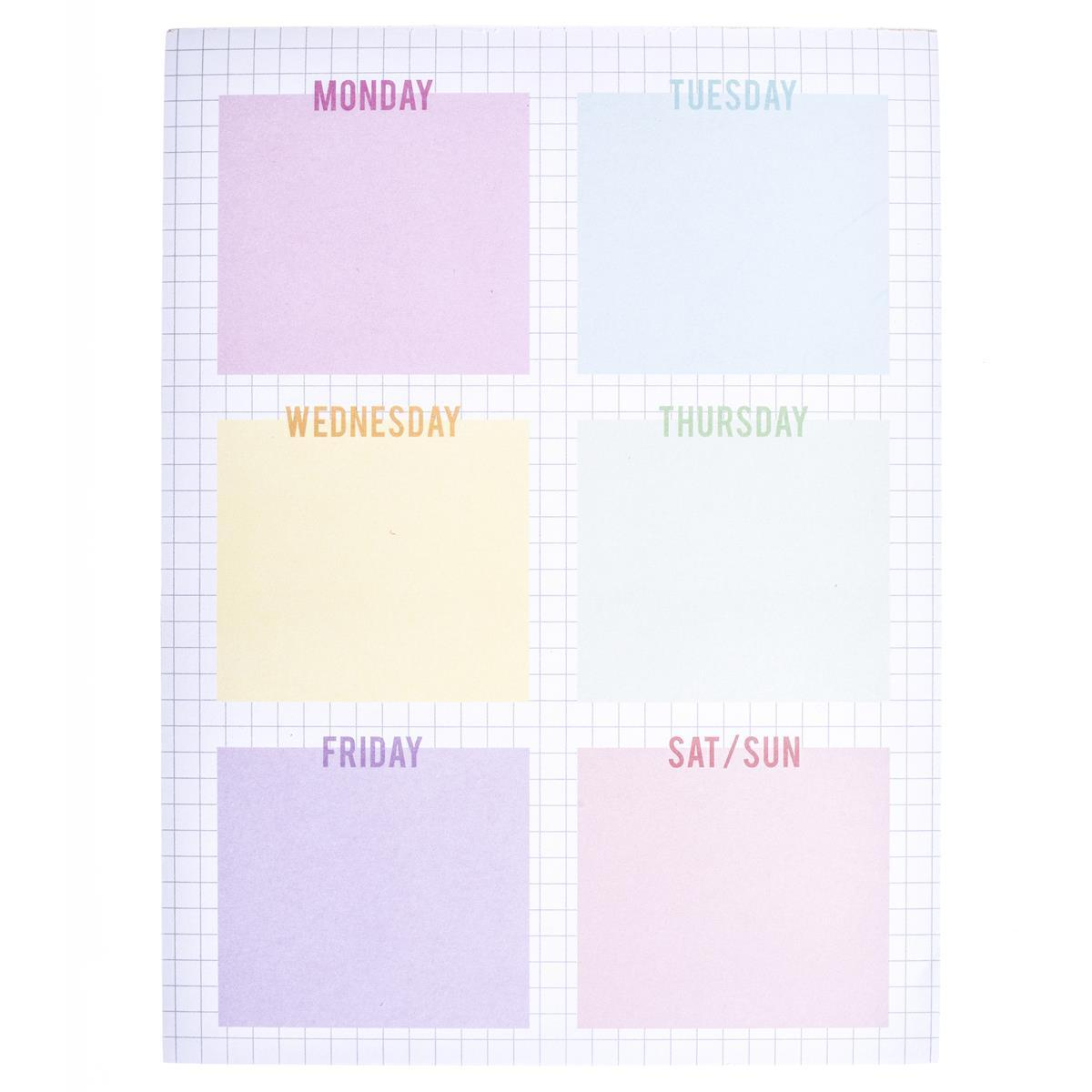 Weekly Grid Large Notepad