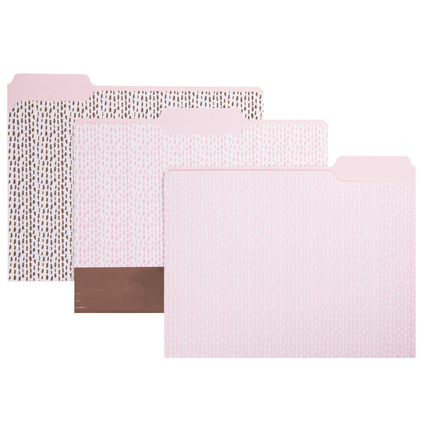 Dashed Pattern File Folder Set