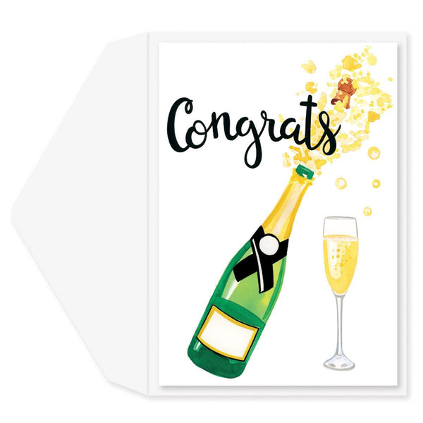Champagne Popping Congratulations Card