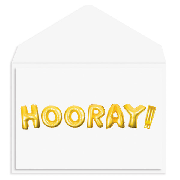 Hooray Balloons Congratulations Card