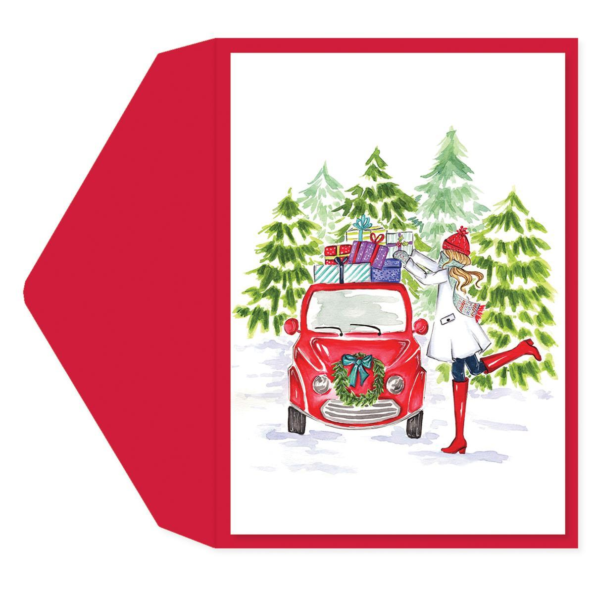 Holiday Car Greeting Card