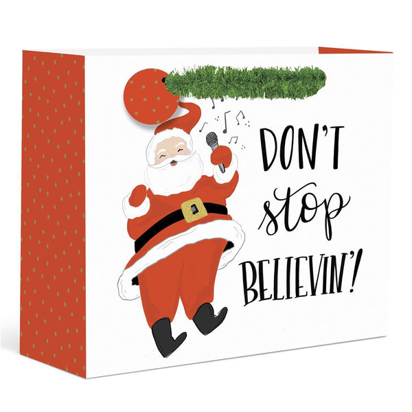 Don't Stop Believin Holiday Large Gift Bag