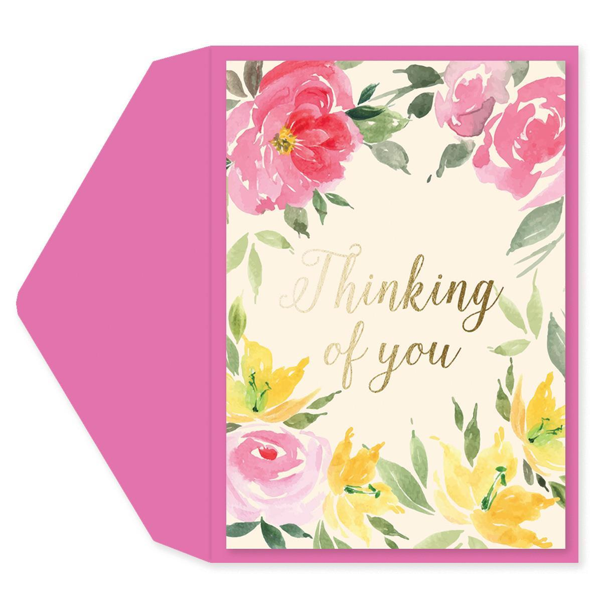 Watercolor Flowers Friendship Card