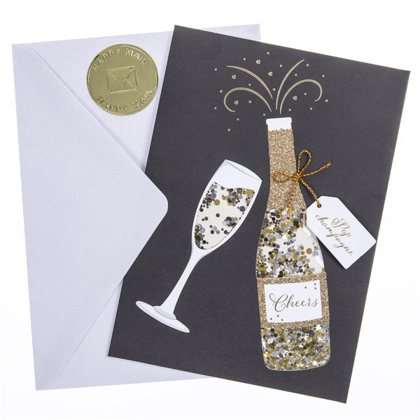 Champagne Shaker Congratulations Handmade Card