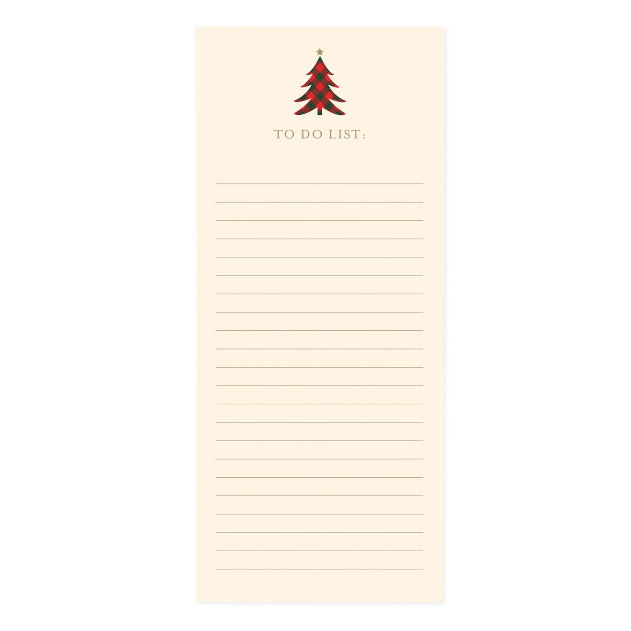 Plaid Tree Holiday Magnetic Notepad