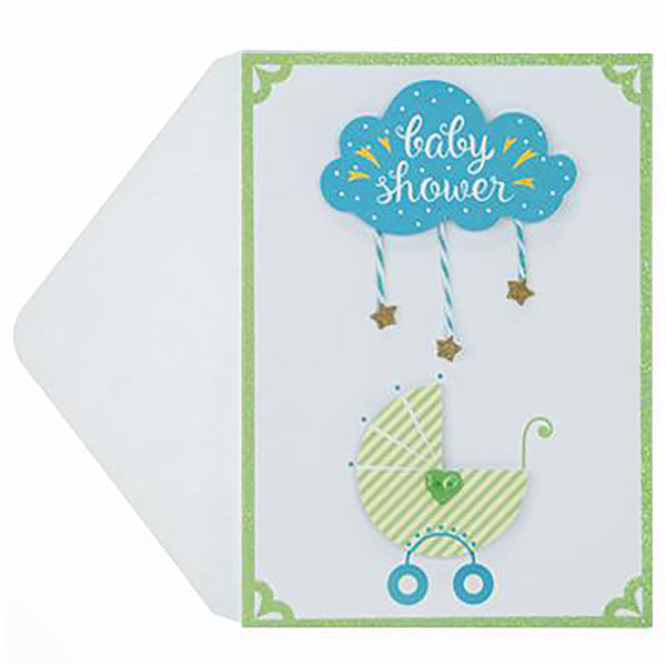 Baby Carriage Baby Shower Handmade Card
