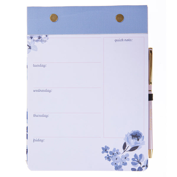 Highland Floral Weekly Notepad & Pen