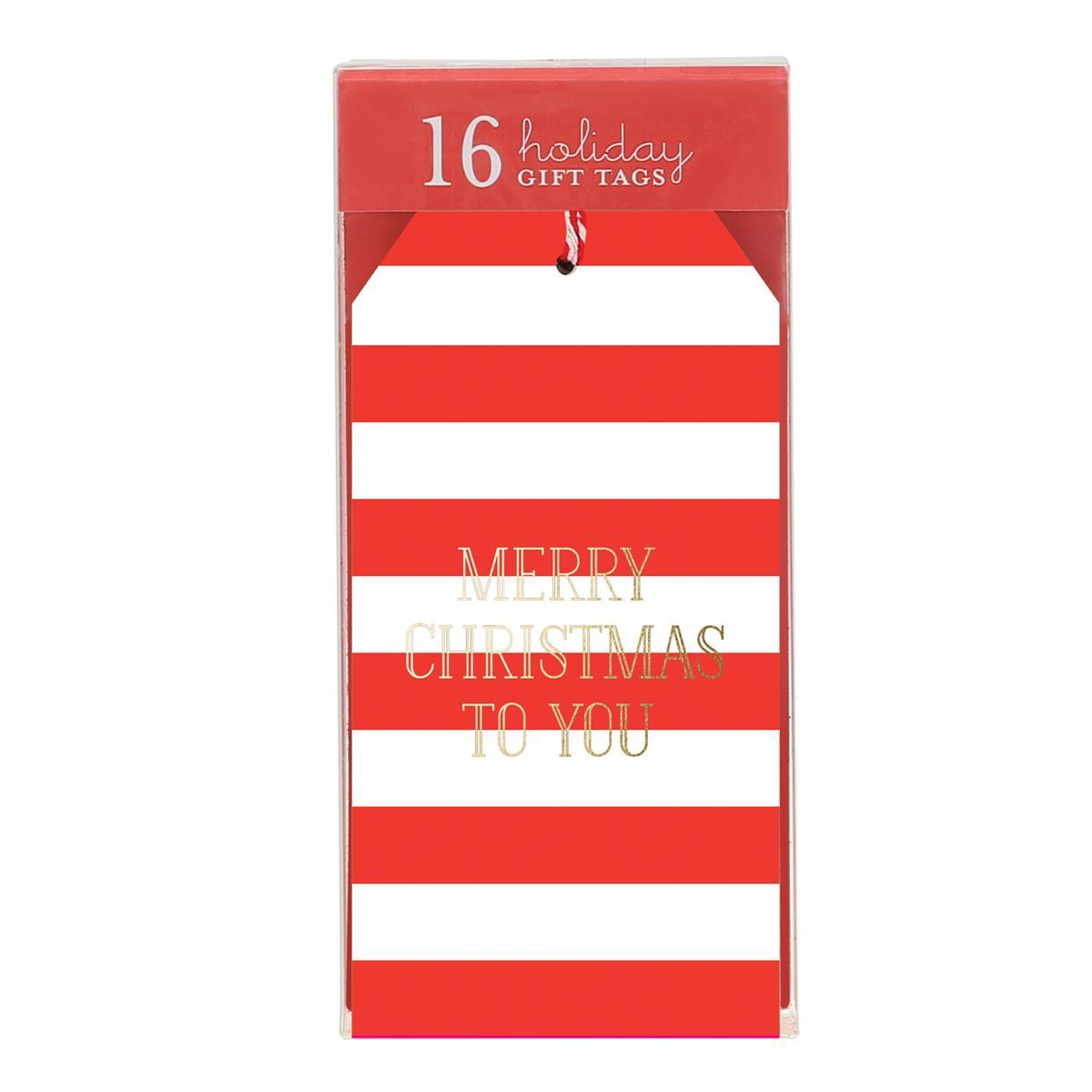 Candy Cane Stripes Single Gift Tags