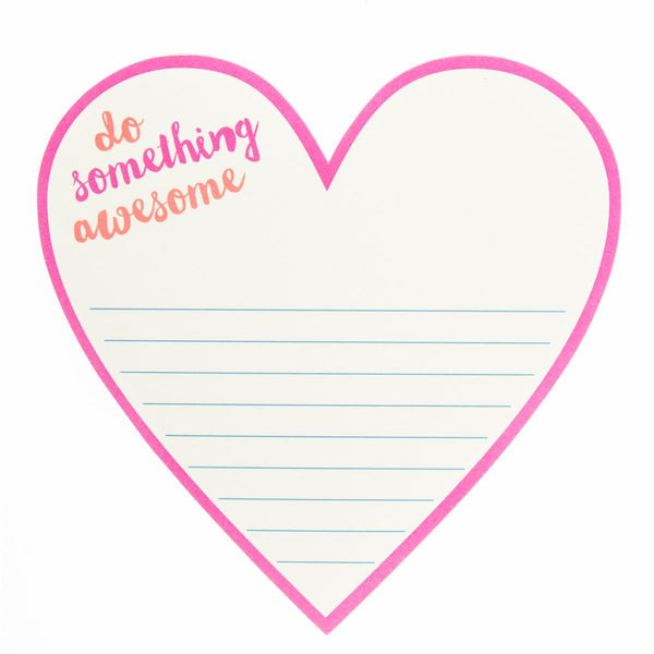 Awesome Heart Die cut Notepad