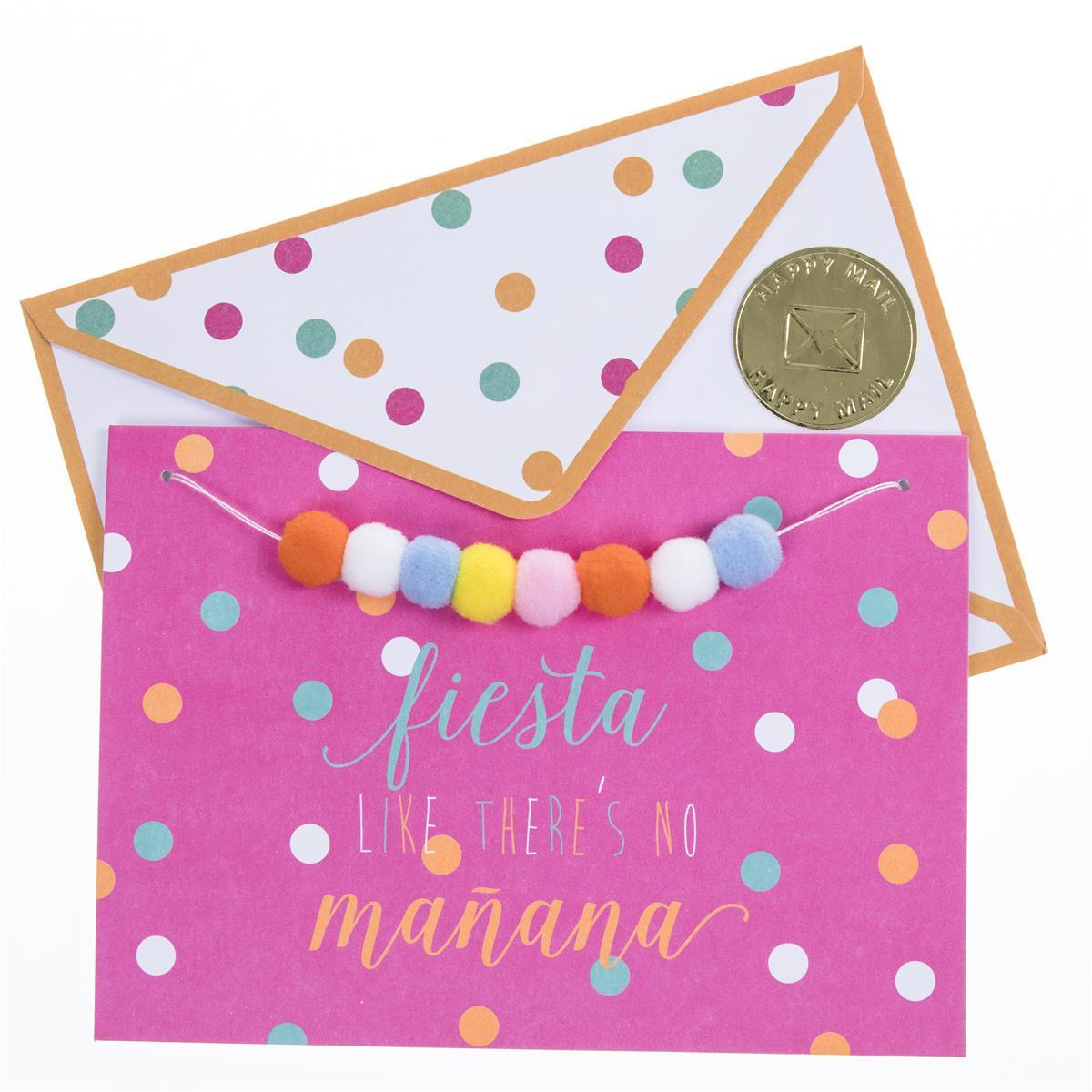 Fiesta Like There's No Manana Birthday Handmade Card