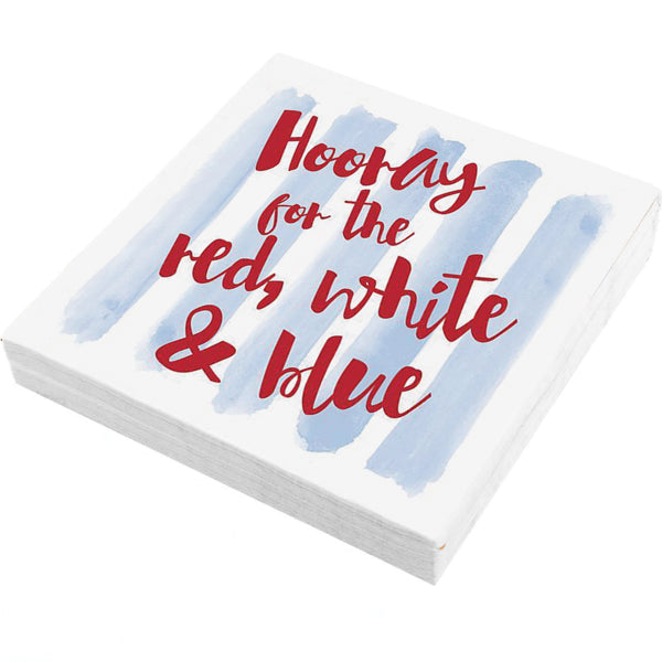 Hooray for the Red, White & Blue Napkins