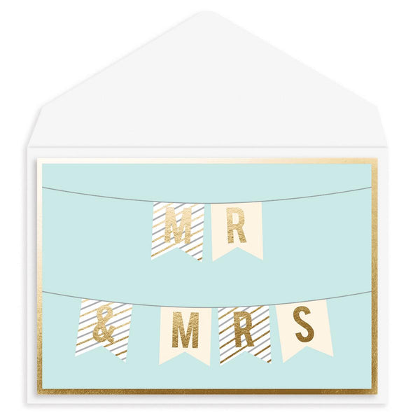 Mr. And Mrs. Banner Wedding Card