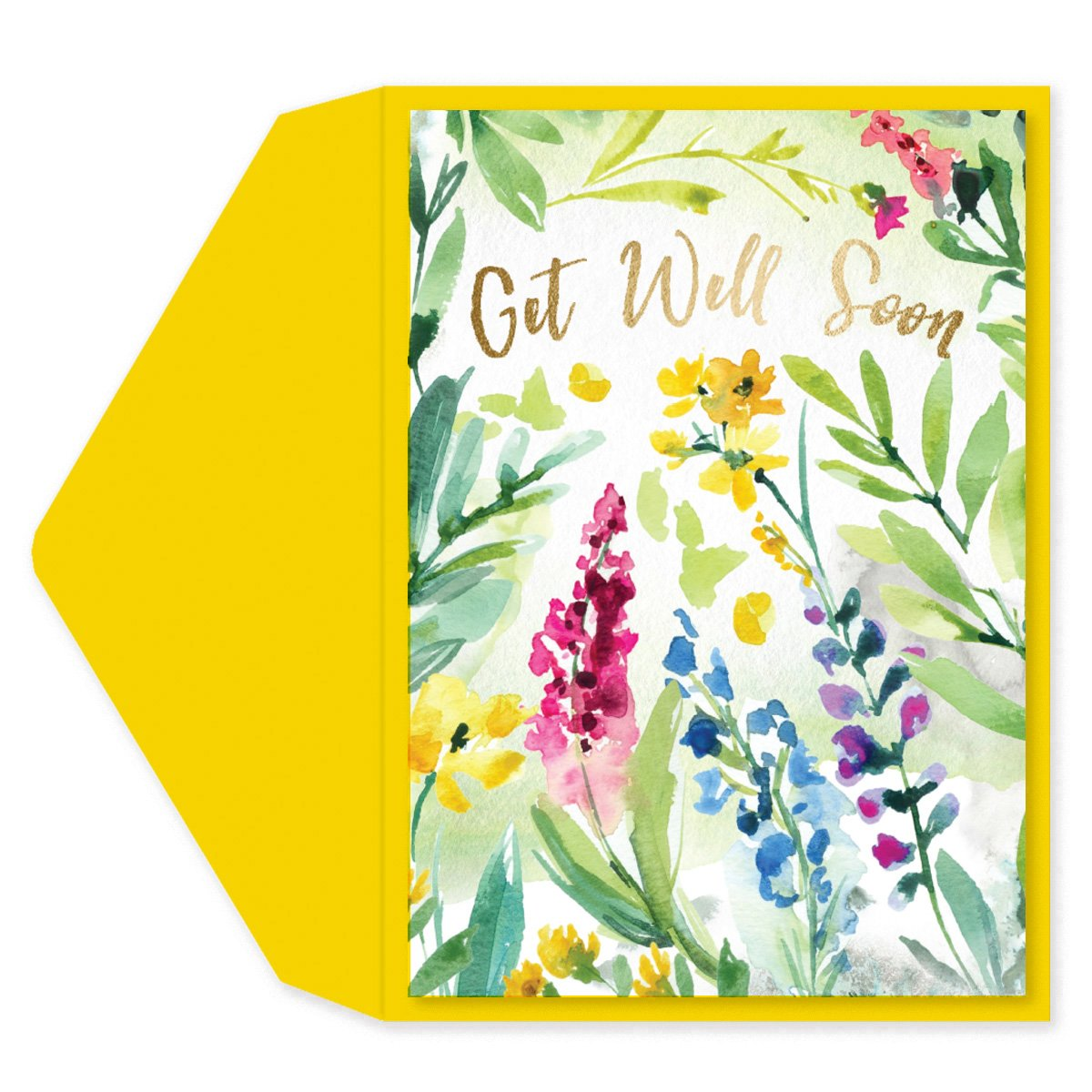Floral Watercolor Get Well Card
