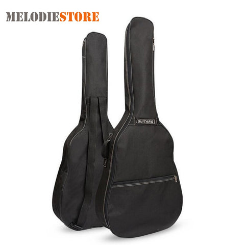 40 Inch / 41 Inch Guitar Bag Carry Case Backpack Oxford Acoustic Folk Cover with Double Shoulder Straps