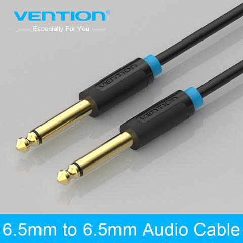 Aux Guitar Cable Jack 6.5 mm to 6.5mm - 6.35 mm for Stereo Mixer Amplifier or Speaker