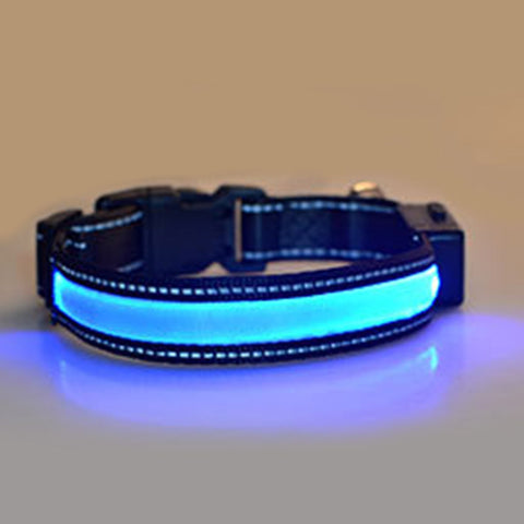 Hot Solar USB Rechargeable pet LED Collar Night Safety Glow Flashing Leash Luminous