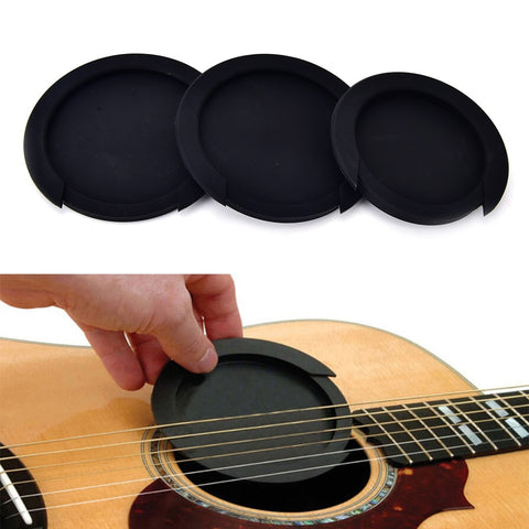 3 Sizes Silicone Acoustic Classic Guitar Feedback Buster Sound Hole Cover Buffer Block Stop Plug