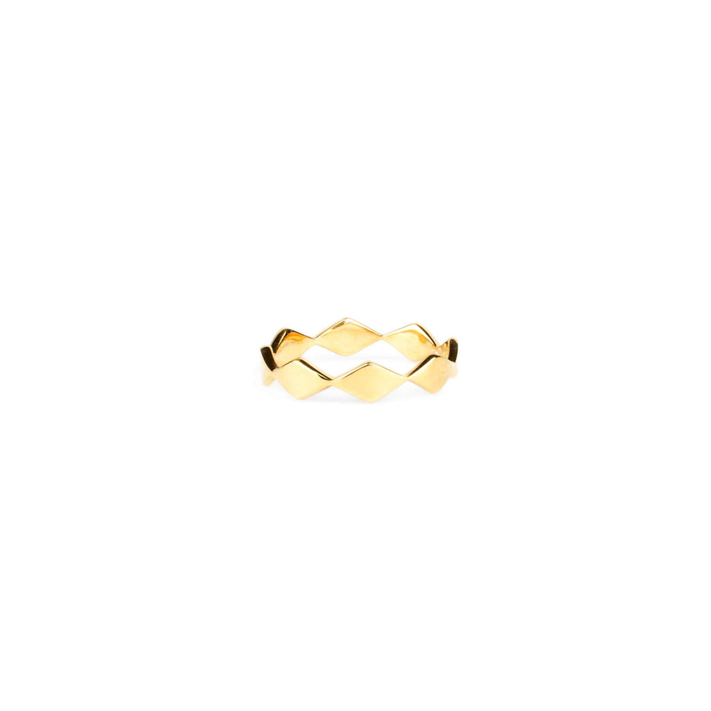 Rhombic Single Ring - Gold