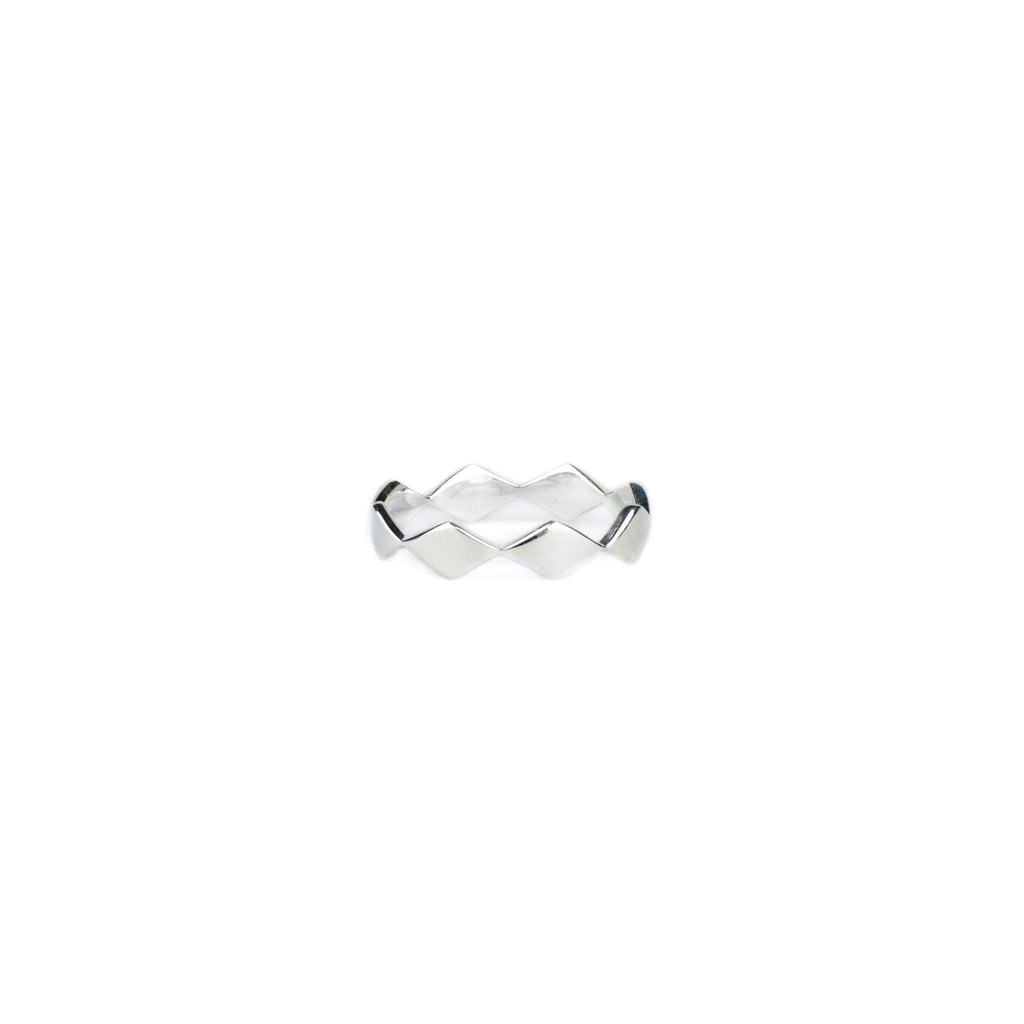 Rhombic Single Ring - Silver