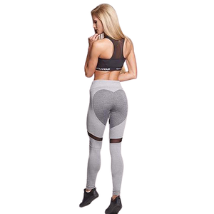 Entrenamiento de leggings push up de corazón - Dileblue