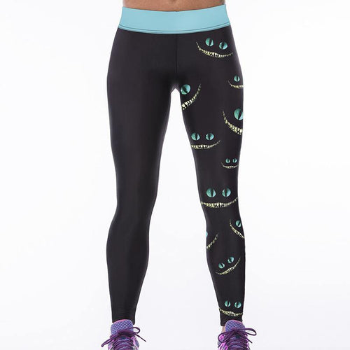 Leggings Deportes Fitness Yoga Con Estampado Digital 3D - Dileblue