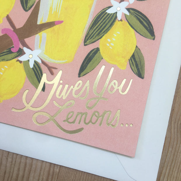 Rifle Paper Co When Life Gives you Lemons Card - Domestic Science LTD