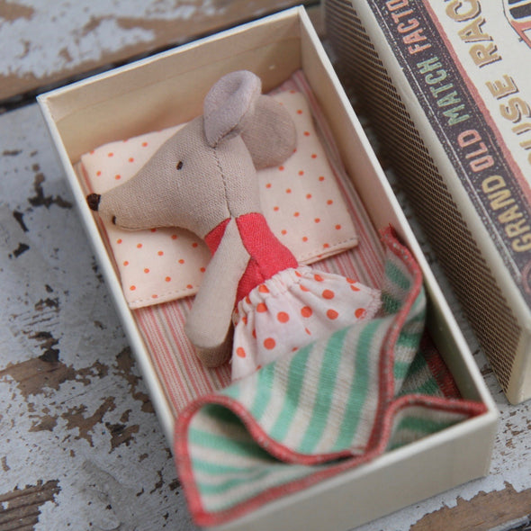 Maileg Little Sister Matchbox Mouse