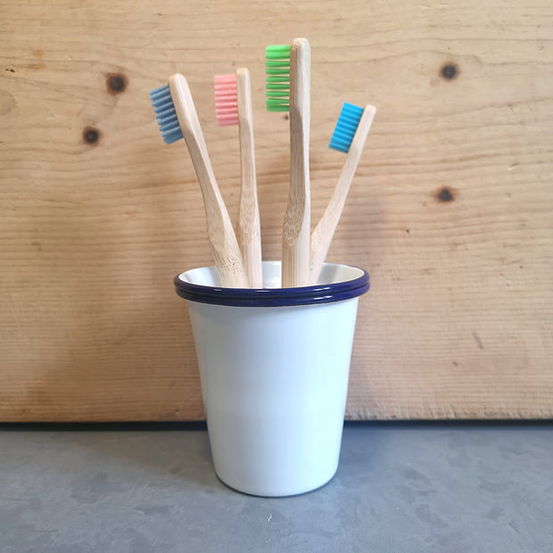 Enamel Toothbrush Holder - Domestic Science Home