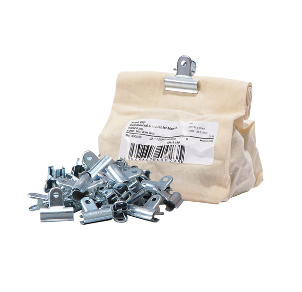 Silver Clips in Wax Bag