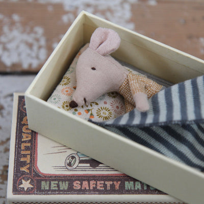 Maileg Little Brother Mouse in a Matchbox - Domestic Science LTD