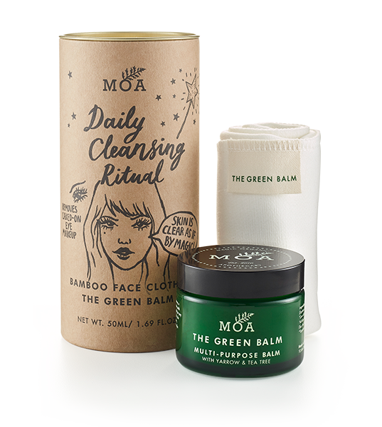 Moa Hot Cloth Green Balm Cleansing Set