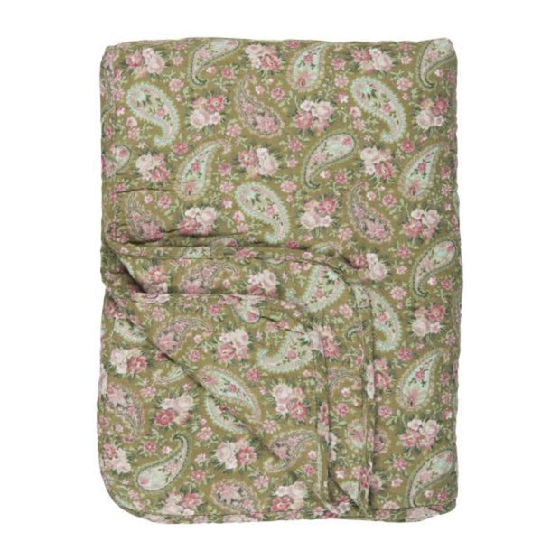 Quilt Green and Rose Paisley