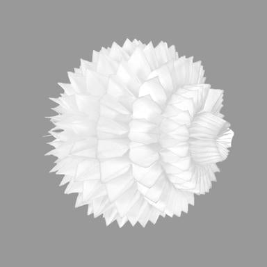 Spikey Honeycomb Decoration White 40cm