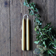 Pair of Beeswax Dinner Candles - Domestic Science Home