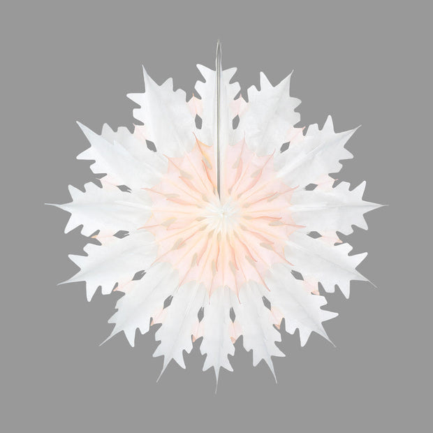Snowflake Fan Decoration Mulled Peach 45cm