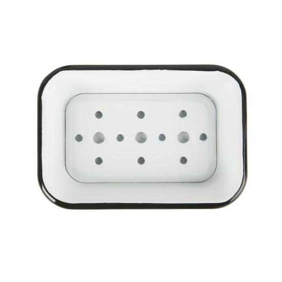 Soap Dish White/Black