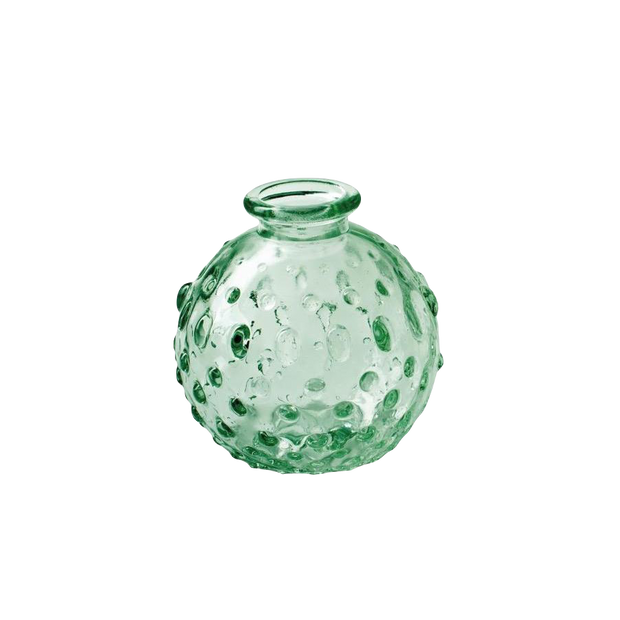 Dotty Round  Vase / Green