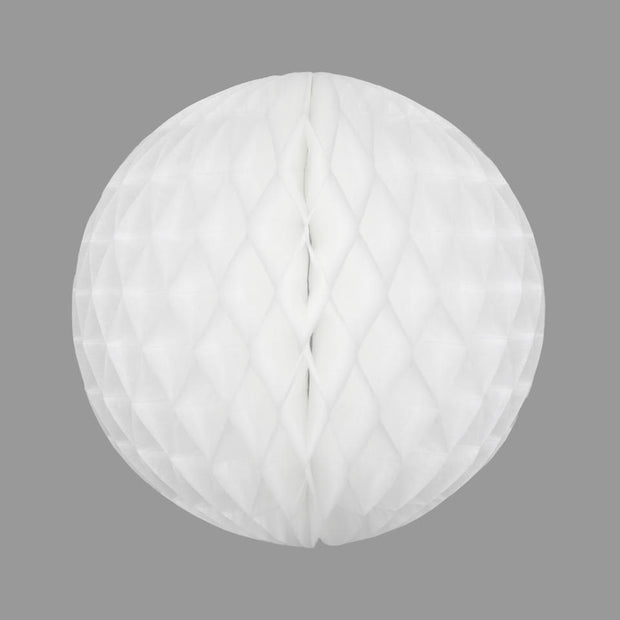 Honeycomb Ball Decoration White