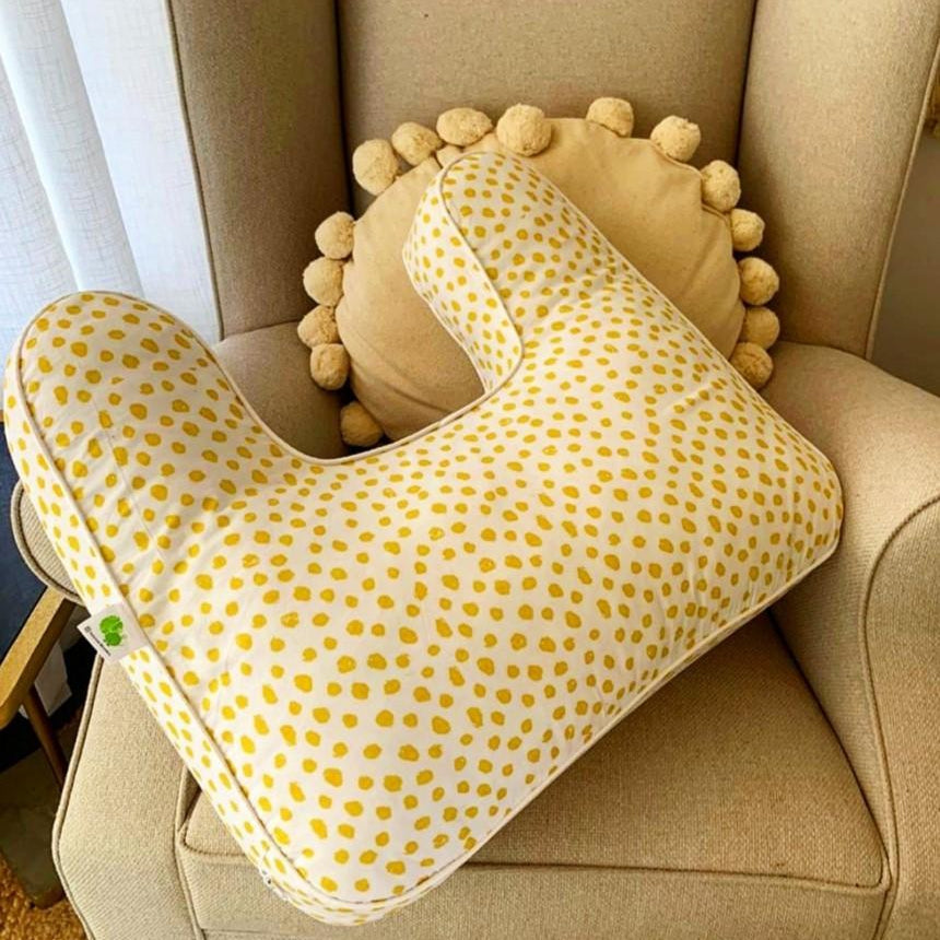 Feeding Pillow | Mustard Spot