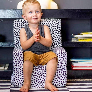 Black Spotted Kids Chair | Delicious Monsters