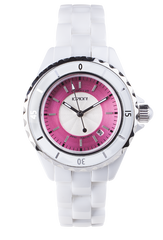 IO?ION! CERAMIC WATCH BIANCO FUCSIA