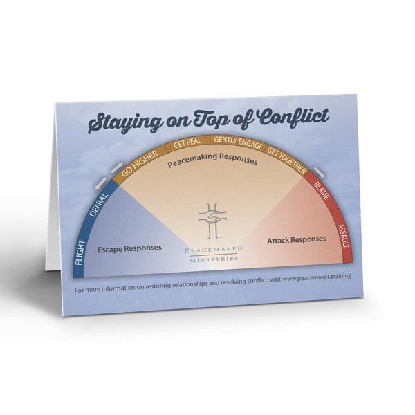 Resolving Everyday Conflict Daily Desktop Reminder Slope Card (10 Pack)