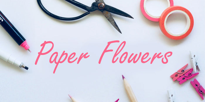 Papercut flowers free template download