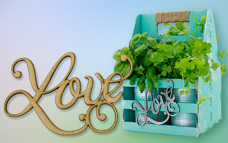 MDF Word Embellishments at Craft Creations