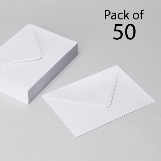 C6 White Envelopes 114x162mm Pack of 50