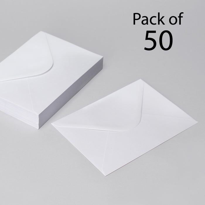White Envelopes 121 x 184mm pack of 50